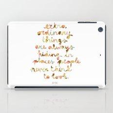 Extraordinary things iPad Case