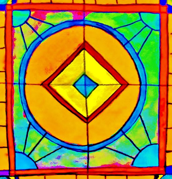 Stained Glass Paper Art Print