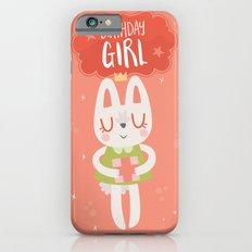 Birthday Girl Bunny Card iPhone 6 Slim Case