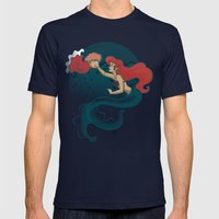 Daughters of Triton Mens Fitted Tee Navy SMALL