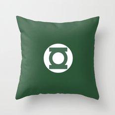 Green Lantern Vector Logo Throw Pillow