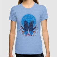 Mystery Womens Fitted Tee Athletic Blue SMALL