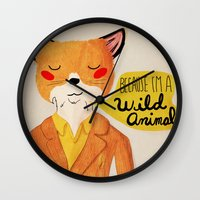 Because I'm A Wild Anima… Wall Clock