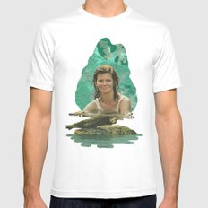 Seal Girl SMALL White Mens Fitted Tee