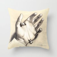 Pocket Pandas Throw Pillow