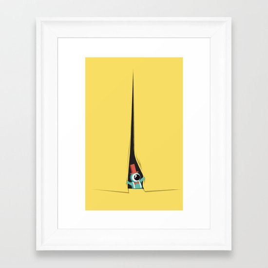 Peek show! Framed Art Print