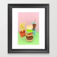 Floaty Foods Framed Art Print