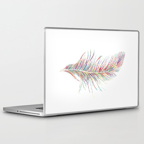 Rainbow Feather  Laptop & iPad Skin
