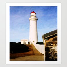 Cape Nelson Lighthouse & Keepers Quarters Art Print