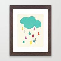 Sunshine and Showers Framed Art Print