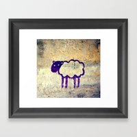 Just A Sheep Framed Art Print