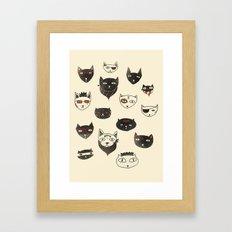 My local cattery Framed Art Print