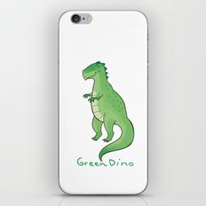 green dino iPhone & iPod Skin