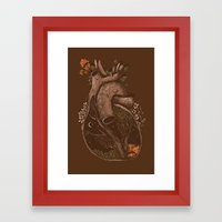 In the Heart of the Woods Framed Art Print