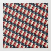 Retro style Texas state flag pattern Canvas Print