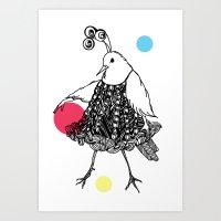 Dame Oiselle / Birdy Art Print