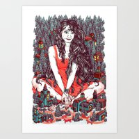 Three Eyed Girl Art Print