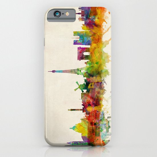 Paris Skyline Watercolor iPhone & iPod Case