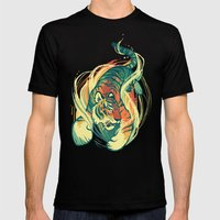 Astral Tiger Mens Fitted Tee Black SMALL