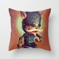 Police Cat Throw Pillow