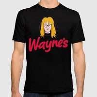 WAYNE'S SINGLE #2 Mens Fitted Tee Black SMALL