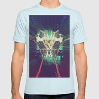 Galactic Cats Saga 1 Mens Fitted Tee Light Blue SMALL