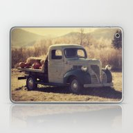 Laptop & iPad Skin featuring Fall Vintage Truck With … by LJehle Photography