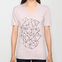 Abstract Outline Black O… Unisex V-Neck