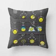 Smiley Factory Throw Pillow