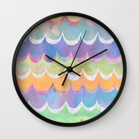 Mia Wave {Orange} Wall Clock