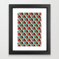 Retrospect, Triangle Duo, No. 04 Framed Art Print