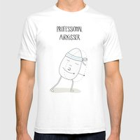 PROFESSIONAL AIRKISSER Mens Fitted Tee White SMALL
