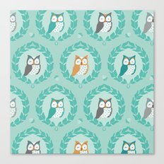 Sweet Owlies - Dusk Canvas Print