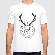 Hunters head Mens Fitted Tee SMALL White