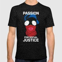 Passion For Social Justi… Mens Fitted Tee Tri-Black SMALL