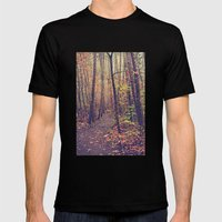 Fall Trail Mens Fitted Tee Black SMALL