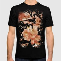 Blossom Crush Mens Fitted Tee Black SMALL