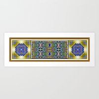 Emerald, Gold and Lapis Art Print