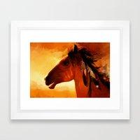 HORSE - Apache Framed Art Print