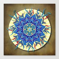 Smiling Mandala Canvas Print