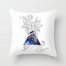 Space Snakes Throw Pillow