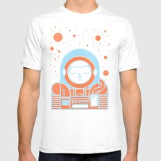 Orange Space Mens Fitted Tee White SMALL