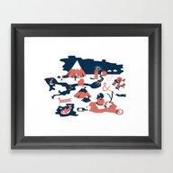 Framed Art Print featuring Washington by Annemieke Beemster L…
