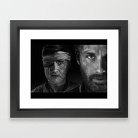 Rick and The Governor Framed Art Print