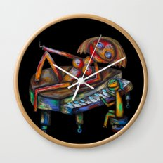 Every morning Jack plays the piano! Wall Clock