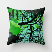 Garden In Eclipse Throw Pillow