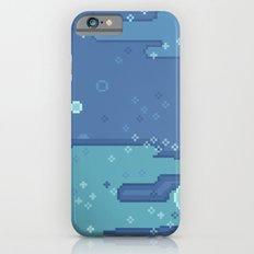 Blue Space Bubbles (8bit) iPhone 6 Slim Case