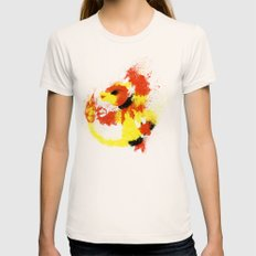 #126 Womens Fitted Tee Natural SMALL