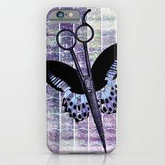 hair stylist scissors shears butterfly grunge purple iPhone 6 Slim Case