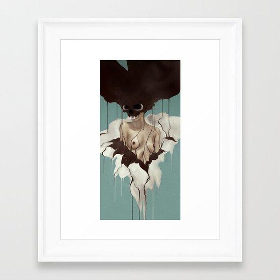 Death By Chocolate Framed Art Print